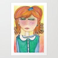 Red-Headed Pixie Art Print