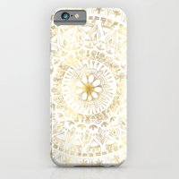 Gold Hand Drawn Mandala iPhone 6 Slim Case