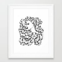 Cosmos (Line Art) Framed Art Print