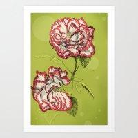 Flower Paintings: Rise A… Art Print