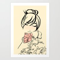 Smartphone Girl 2 Art Print