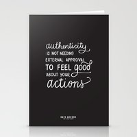 Authenticity // The Live… Stationery Cards