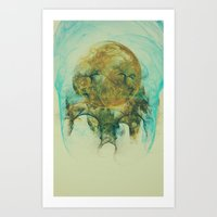 Moon Talking Nebula  Art Print