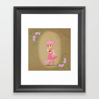 Retro Sailor Chibi Moon Framed Art Print