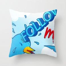 follow me! Throw Pillow