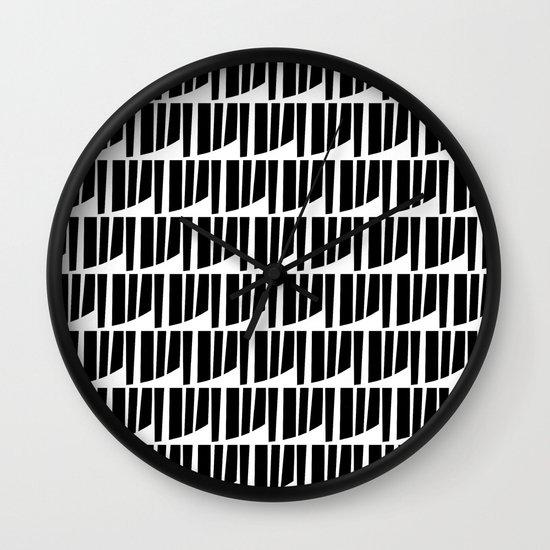 Westfranke Black & White Pattern Wall Clock