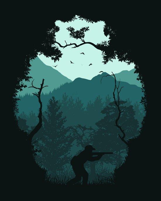 Hunting Season - Blue Art Print
