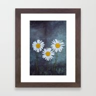 Marguerites Framed Art Print