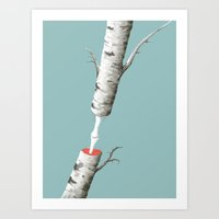 Anatomy Of A Tree - IPad… Art Print