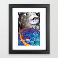 Giant Leap Collage Framed Art Print