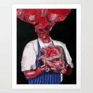 Art Print featuring Meat 2. 2015.  by Carp Matthew