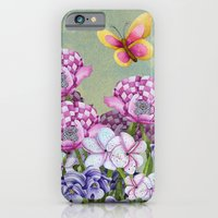 iPhone & iPod Case featuring Fanciful Garden by Jennifer Lambein