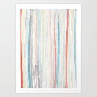 Painterly Stripes Art Print