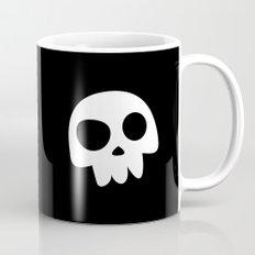 Skull Head logo with Three Teeth   Bones, white, pirates, symbolism, mortality, death, Halloween Mug