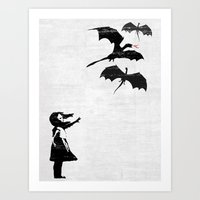 Dragons Will Be Dragons Art Print