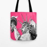 New York Statue Of Liber… Tote Bag