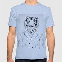 Fine Feline  Mens Fitted Tee Athletic Blue SMALL