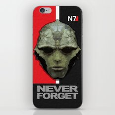 NEVER FORGET - Thane Krios - Mass Effect iPhone & iPod Skin