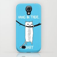 Galaxy S4 Cases featuring Hang in There, Baby by gemma correll