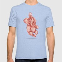 Elephantrance  Mens Fitted Tee Tri-Blue SMALL