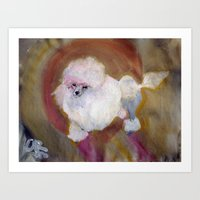 Toy Poodle Art Print