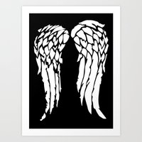 Daryls Wings Art Print