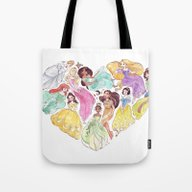 I Heart Princesses Tote Bag