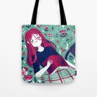 Flowe Bed Tote Bag