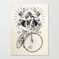 Fixed Gear Canvas Print