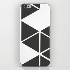 T R I _ N G L S (BLK) iPhone & iPod Skin