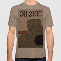 OhOne COLOR Mens Fitted Tee Tri-Coffee SMALL