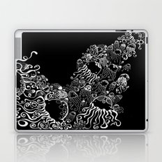 White Jellyfish in Black Abyss Laptop & iPad Skin