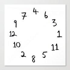 terrible clock Canvas Print