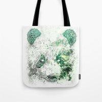 Green Panda Bear Tote Bag