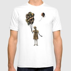 Elsie White SMALL Mens Fitted Tee