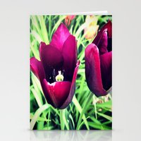 Purple Tulips In Bloom Stationery Cards