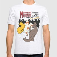 Moolin Rouge - This Cow … Mens Fitted Tee Ash Grey SMALL