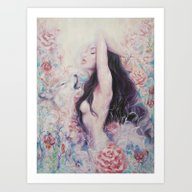 Lightbeams | Rise Art Print