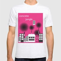 concrete jungle Mens Fitted Tee Ash Grey SMALL