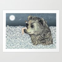 Bear Rock Art Print