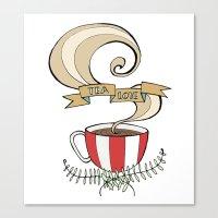 Tea Love Canvas Print