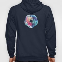 Geometry Triangle Wave Multicolor Mosaic Pattern - (HDR - Low Poly Art) Hoody