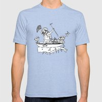 In Which Sea Mammals Can… Mens Fitted Tee Tri-Blue SMALL