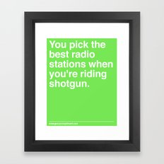 Best Radio Stations Framed Art Print