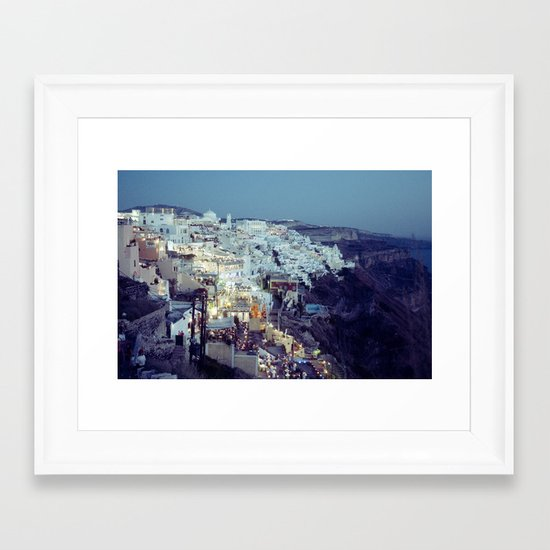 Fira at Dusk II Framed Art Print