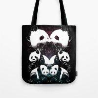 PANDA COLLIDE Tote Bag
