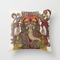 Lord Ganesha Throw Pillow