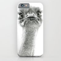 iPhone & iPod Case featuring Cute Ostrich SK053 by S-Schukina