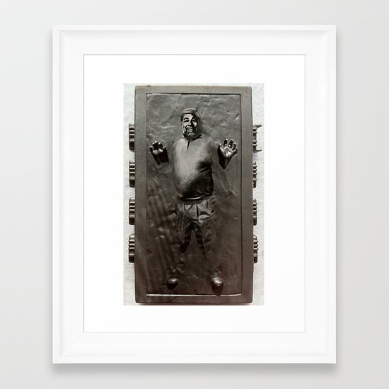 Steve Wozniak in Carbonite Framed Art Print