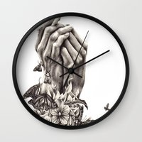 Pray For Nature Wall Clock